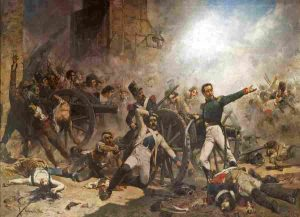 El 2 de Mayo defensa del cuartel de artilleria de Monteleon