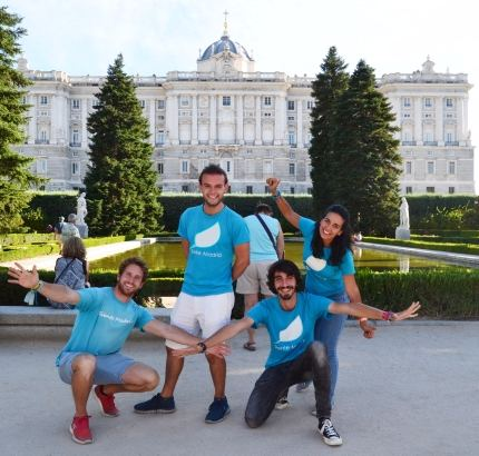 Equipo Leaf Madrid - free tour in madrid