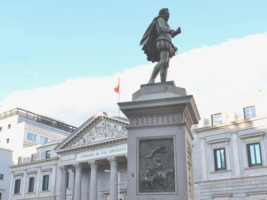 Leaf Madrid Free Tour Madrid Cervantes y Congreso de los Diputados