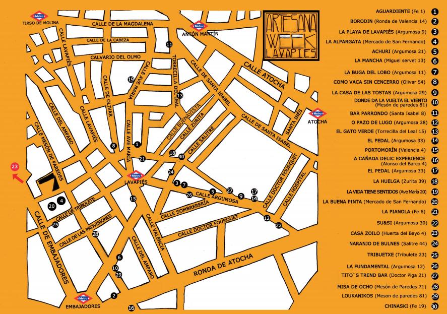mapa-bares-artesana-week-lavapies