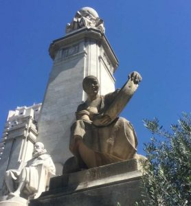Monumento Miguel de Cervantes Plaza de España Madrid Aldonza Lorenzo