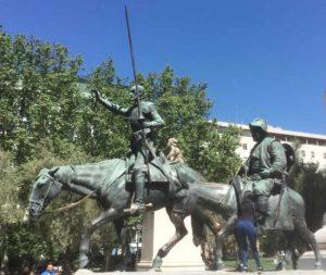 Monumento Miguel de Cervantes Plaza de España Madrid Don Quijote y Sancho Panza
