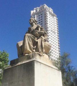 Monumento Miguel de Cervantes Plaza de España Madrid Dulcinea del Toboso