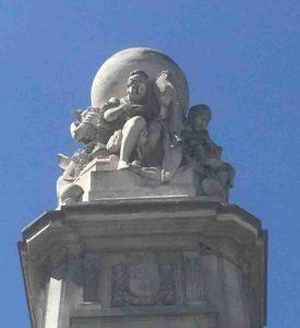 Monumento Miguel de Cervantes Plaza de España Madrid Globo Terráqueo