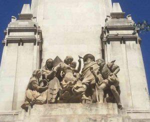 Monumento Miguel de Cervantes Plaza de España Madrid La Gitanilla