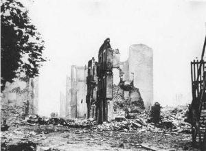 Ciudad de Guernica tras el bombardeo